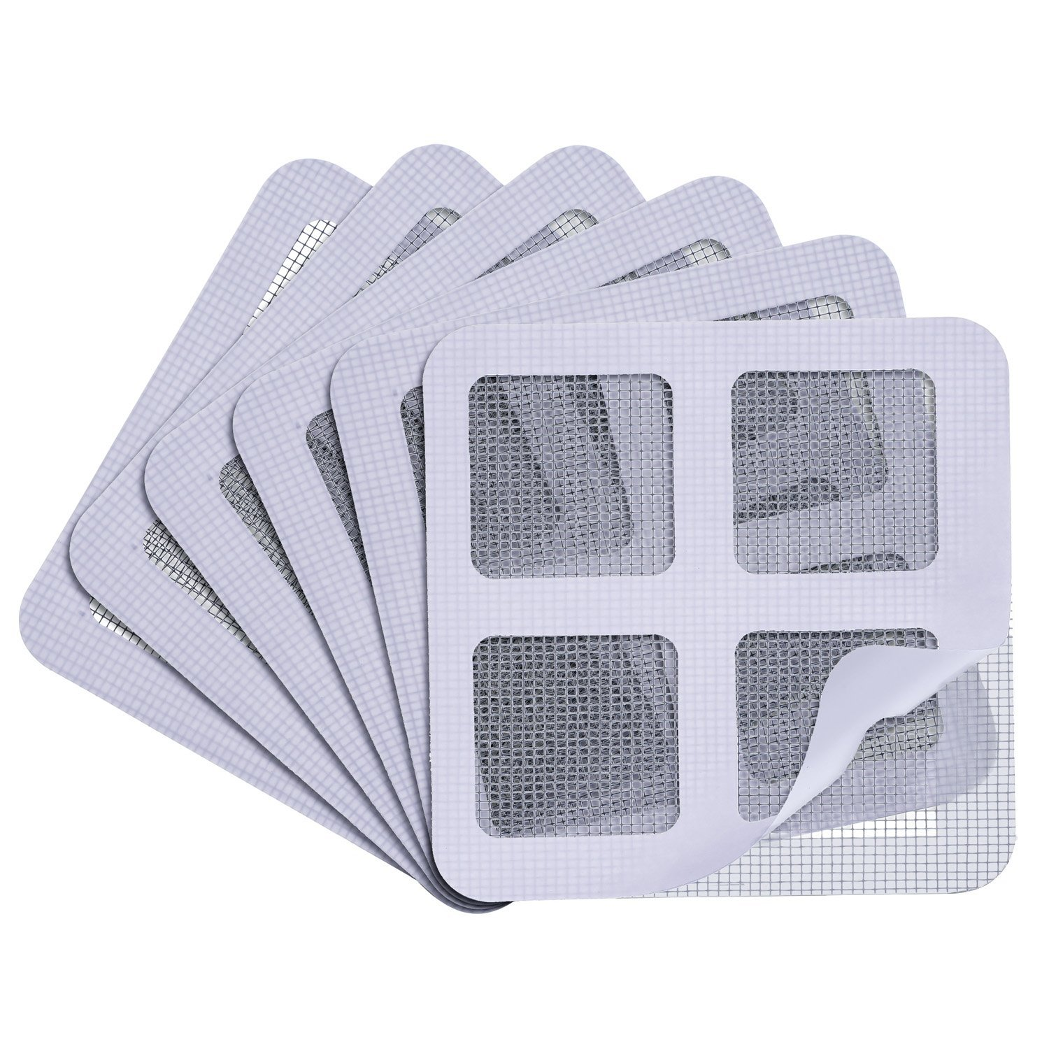 Window and Door Screen Repair Kit, Self-adhesive Fiberglass Screen Door Repair Patches, Cover up Holes and Tears, Prevent Mosquito Insects Fly (3.94